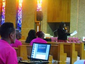 Crystal L. Cochren at New Vision Full Gospel Baptist Church 2